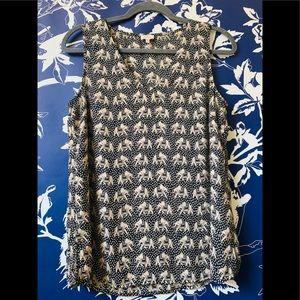 Pixley Sleeveless Elephant Print top Size M